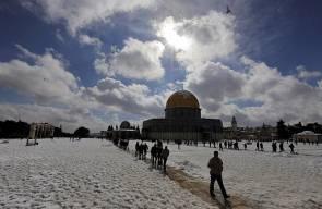 صور الثلوج في الضفة والقدس