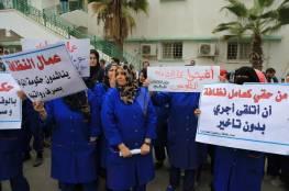 شركات النظافة بغزة تعلق اضرابها
