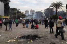 احتجاج بالكلية الجامعية بغزة على قرار رفع الحد الأدنى للتسجيل