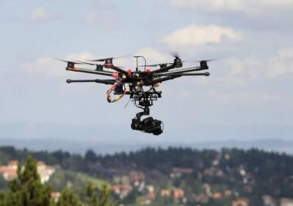 صور: اسقاط طائرة اسرائيلية صغيرة فوق مخيم العودة شرق جباليا