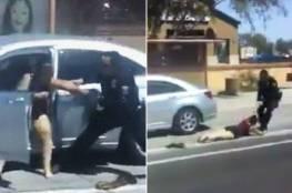 فيديو.. شرطي أمريكي يسحل امرأة في الشّارع!
