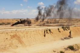 بالصور : تدريبات لوحدات خاصة تحاكي مواجهة المظاهرات على حدود غزة