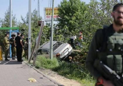 صور وفيديو: مقتل جندي إسرائيلي وإصابة آخر في عملية دهس قرب رام الله واعتقال المنفذ