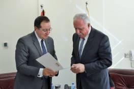 السفير المصري لدى فلسطين: لا يمكن أن نتخلى عن دورنا الداعم للقضية والقيادة  الفلسطينية