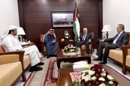 الرئيس عباس يستقبل السفير القطري العمادي
