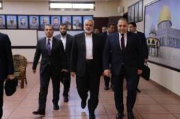 الوفد المصري يلتقي هنية لبحث ملف المصالحة
