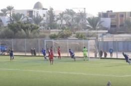 فيديو.. بيت حانون الرياضي يكتسح خدمات المغازي بثلاثية