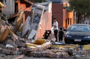 دمار ناجم عن الزلزال والتسونامي في تشيلي
