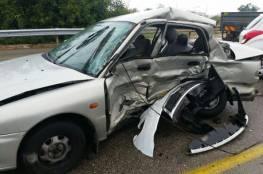 إصابة 4 مواطنين بحادث سير في خانيونس جنوب القطاع
