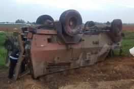 صور: اصابة 6 جنود على حدود قطاع غزة
