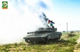 صور : انطلاق مناورات القسام وتشمل دبابات وصواريخ وطائرات استطلاع