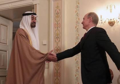 بوتين لبن زايد: روسيا قلقة من تطور الأوضاع في العراق وليبيا وفلسطين والشرق الأوسط بأسره
