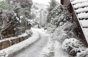 أمطار وثلوج غزيرة تسقط على فلسطين المحتلة