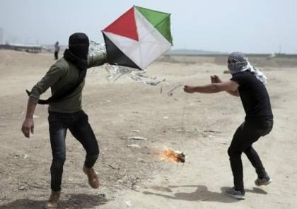 واللا العبري يكشف عن المساحة الهائلة التي أحرقتها الطائرات الورقية الخارجة من غزة