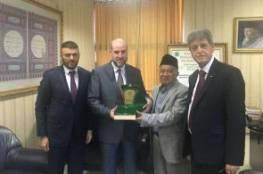 الهباش يبحث مع مجلس العلماء الاسلامي الاندونيسي آخر التطورات
