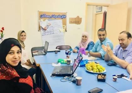 وفد من وزارة العمل يزور فلسطينيات