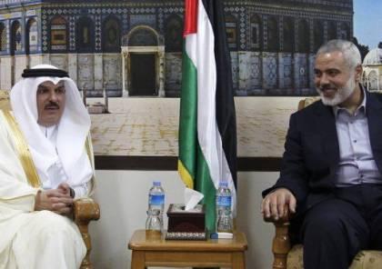 السفير العمادي يلتقي هنية في غزة