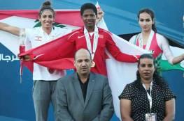 فضية لفلسطين في بطولة غرب آسيا لالعاب القوى في رياضة المشي