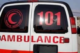 اصابة مواطنين في حادث سير شمال الخليل