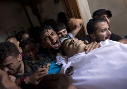 جماهير غزة تشيع جثمان الشهيد النجار