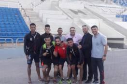 منتخب فلسطين القوى يصل عمان للمشاركة في بطولة غرب آسيا