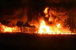صور.. الاحتلال يزعم : المتظاهرون أضرموا النار في أنابيب الغاز بالجانب الفلسطيني من معبر كرم أبو سالم
