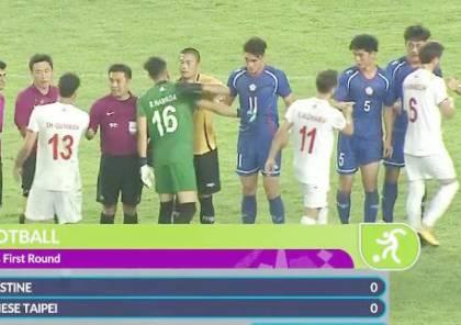 تعادل سلبي لفلسطين بكرة القدم في افتتاح الألعاب الآسيوية