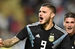 ثنائية إيكاردي وديبالا تمنح منتخب الأرجنتين فوزاً ودياً على المكسيك