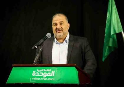 عباس: هذا ما جعلني أوقع اتفاق الائتلاف مع لبيد واعتزم ضم أعضاء من المشتركة