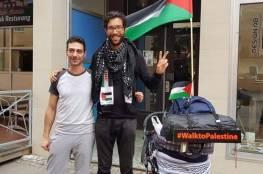 ناشط يهودي يمشي من السويد إلى فلسطين تنديدا بالانتهاكات الإسرائيلية