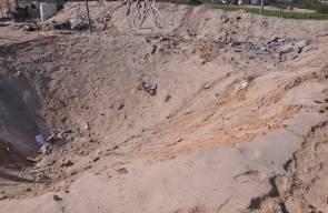آثار القصف الاسرائيلي على مناطق متفرقة في غزة