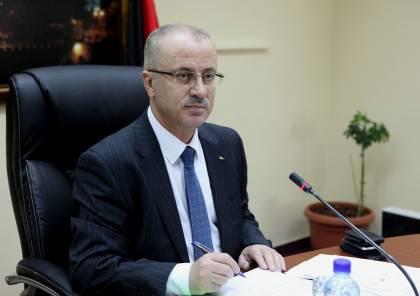 """الحمد الله يطلع مجلس الوزراء على نتائج اجتماعه بوزير المالية """"الإسرائيلي"""""""