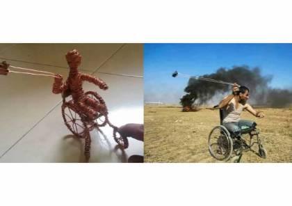 مصور صحافي يصنع منحوتات تجسد تضحيات الفلسطينيين