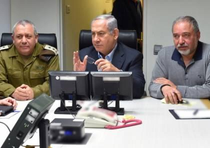 أعضاء الكابينت متفقون على إبرام تسوية مع غزة حتى ليبرمان ..