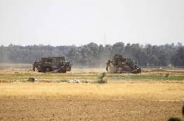 توغل محدود لجرافات الاحتلال شرق المحافظة الوسطى