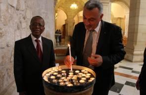 دعاء وصلاة من أجل مانديلا بكنيسة المهد