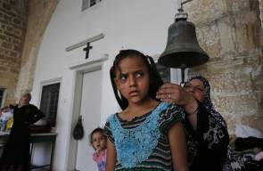 مسلمو غزة يحتمون بالكنيسة من القصف الاسرائيلي