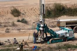 """جيش الاحتلال يقرر استئناف بناء """"الجدار"""" الجديد على حدود غزة"""