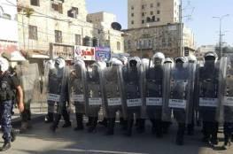 الامن يفرق بالغاز مسيرة حزب التحرير في الخليل