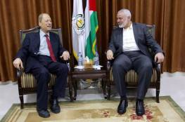 هنية يلتقي وفدا من الجبهة الديمقراطية بغزة