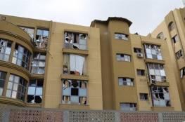 جامعة الازهر تتعرض لاضرار كبيرة خلال قصف غزة امس