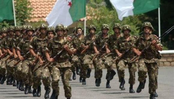 الجيش الجزائري يهتف لشعب غزة