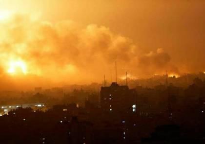 طائرات الاحتلال تقصف نفقا قرب معبر كرم أبو سالم جنوب قطاع غزة