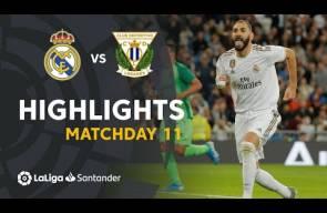 ملخص مباراه ريال مدريد وليغانيس 5-0 عودة الملكي واول اهداف يوفيتش