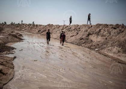 صور: انهيارات أرضية جديدة على حدود غزة بعد ضخ الجيش المصري مياهاً بالأنفاق