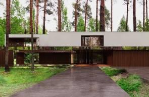 منزل من المرايا معلق في الهواء