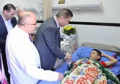 وزير الصحة يوعز بعمل ما يلزم لعلاج الأسير المحرر الطفل التميمي