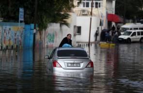 غزة تغرق بسبب الأمطار