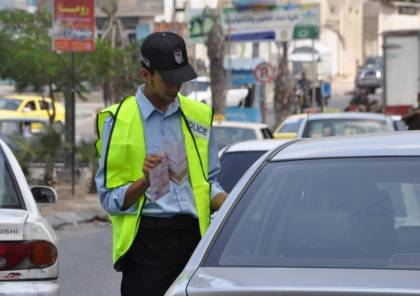 غزة : 180 دينار مخالفة من يقود مركبة دون رخصة