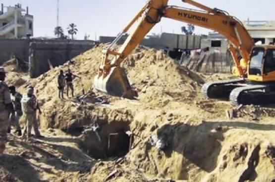 الجيش المصري يدمّر 3 أنفاق على حدود غزة